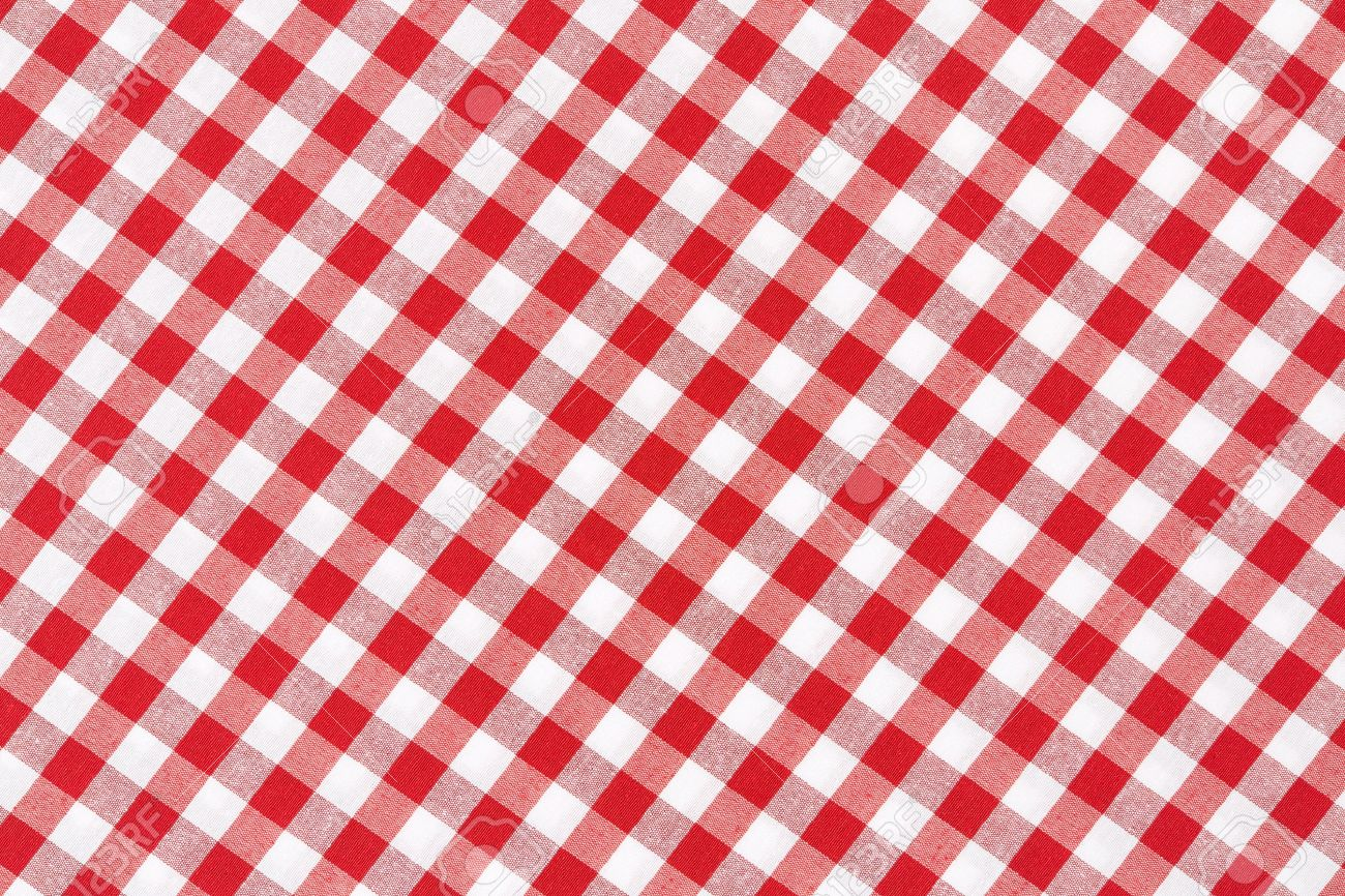 Lovely Red And White Gingham Tablecloth Texture Background Stock Photo   20200320