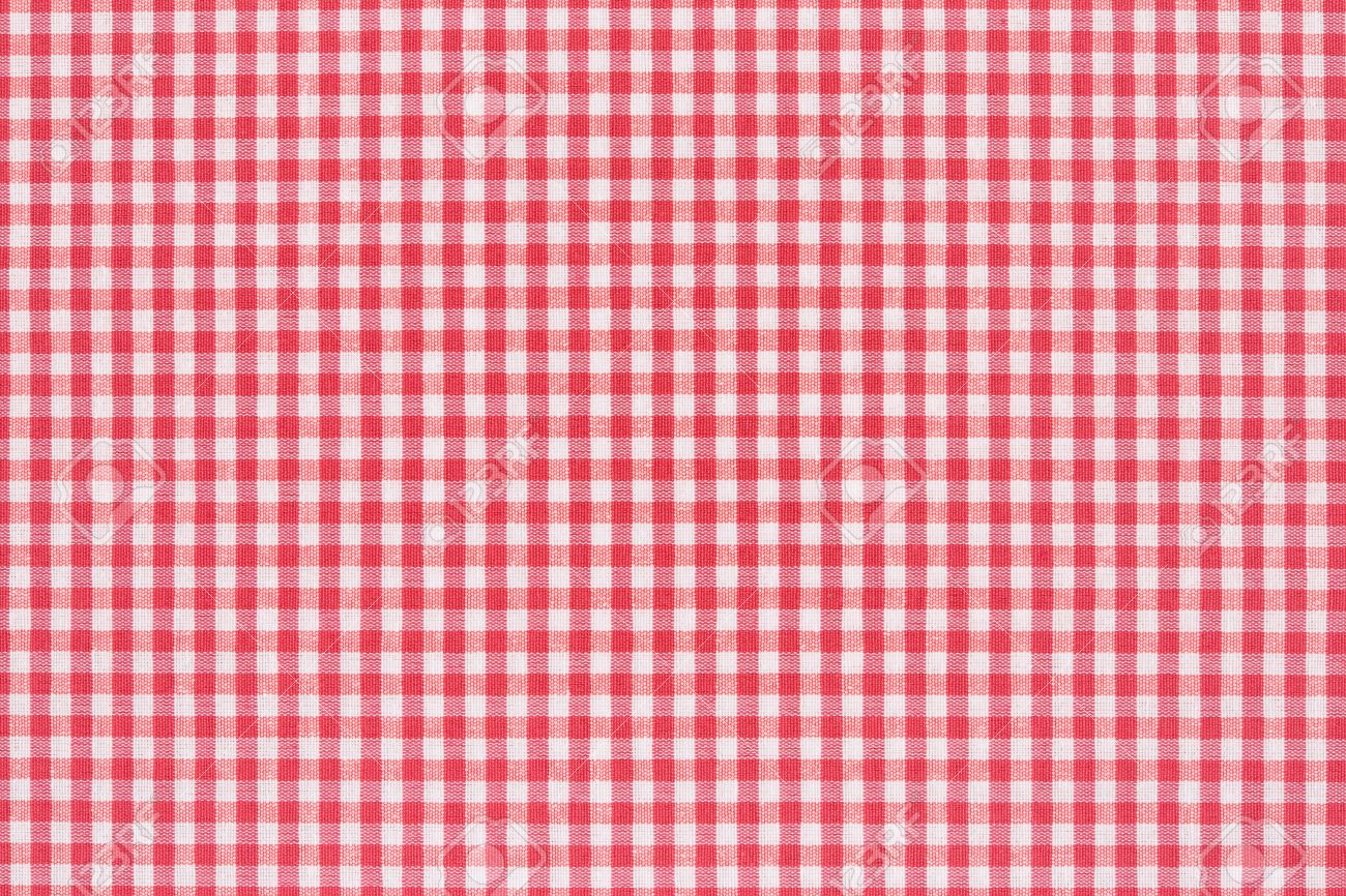 Red And White Gingham Tablecloth Texture Background Stock Photo   21529464