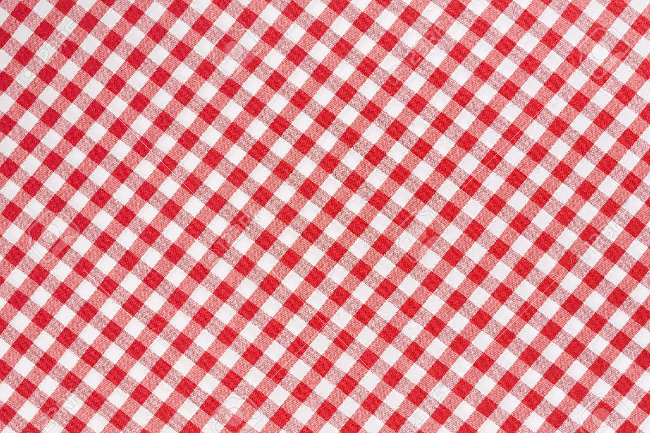 Red And White Gingham Tablecloth Texture Background Stock Photo   21529468