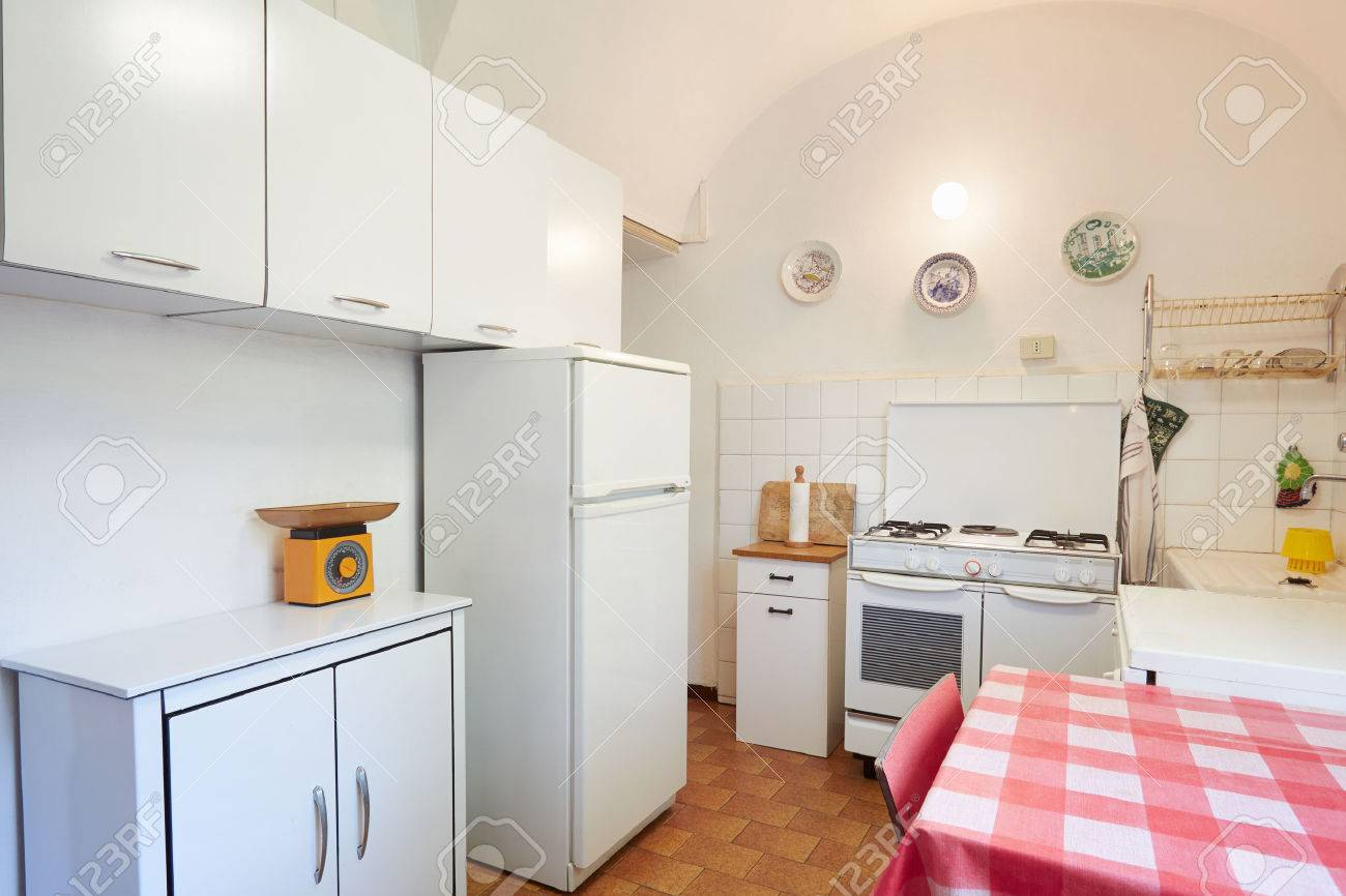 Old Kitchen In Normal Simple House Interior