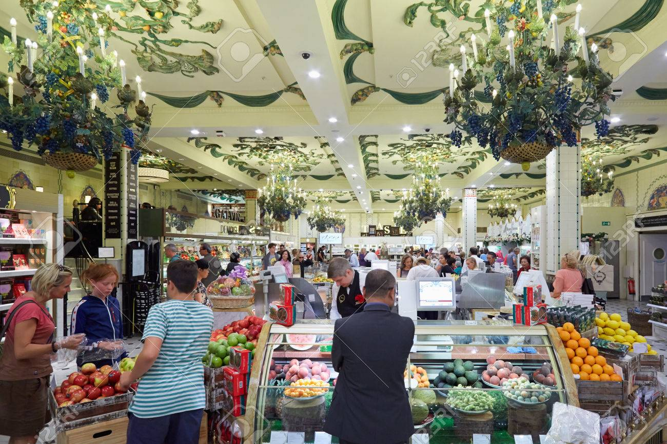 harrods department store interior grocery area in london stock photo 54012161