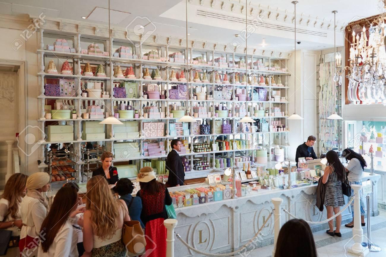 laduree shop interior in harrods department store in london stock photo 54012212