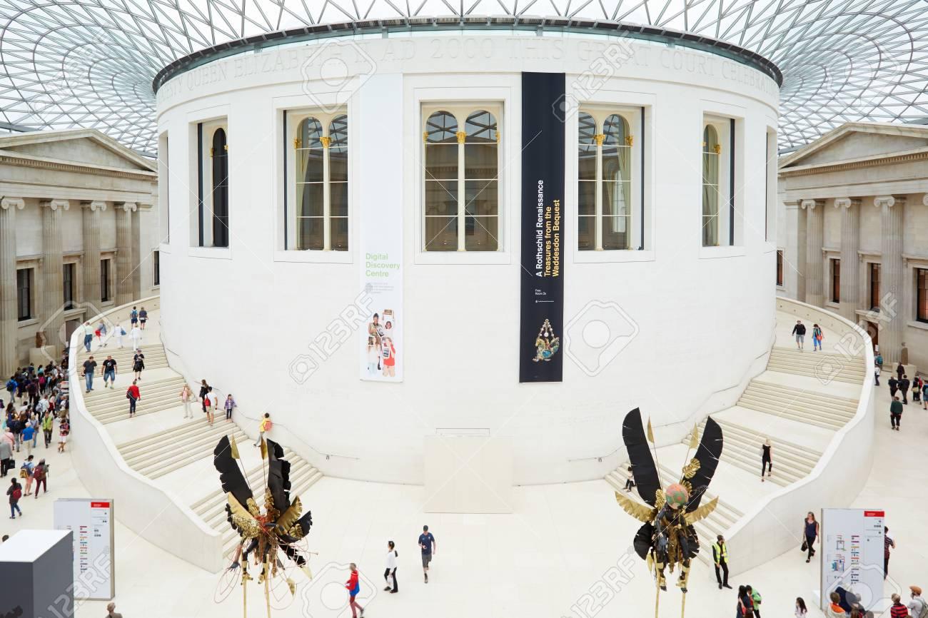 Britisches Museum Großes Gericht Interieur Von Oben In London ...