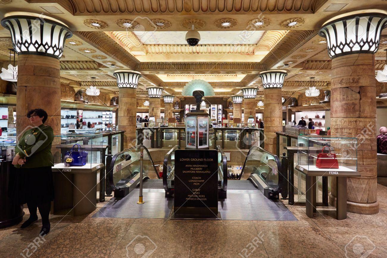 harrods department store interior in london stock photo 55987557