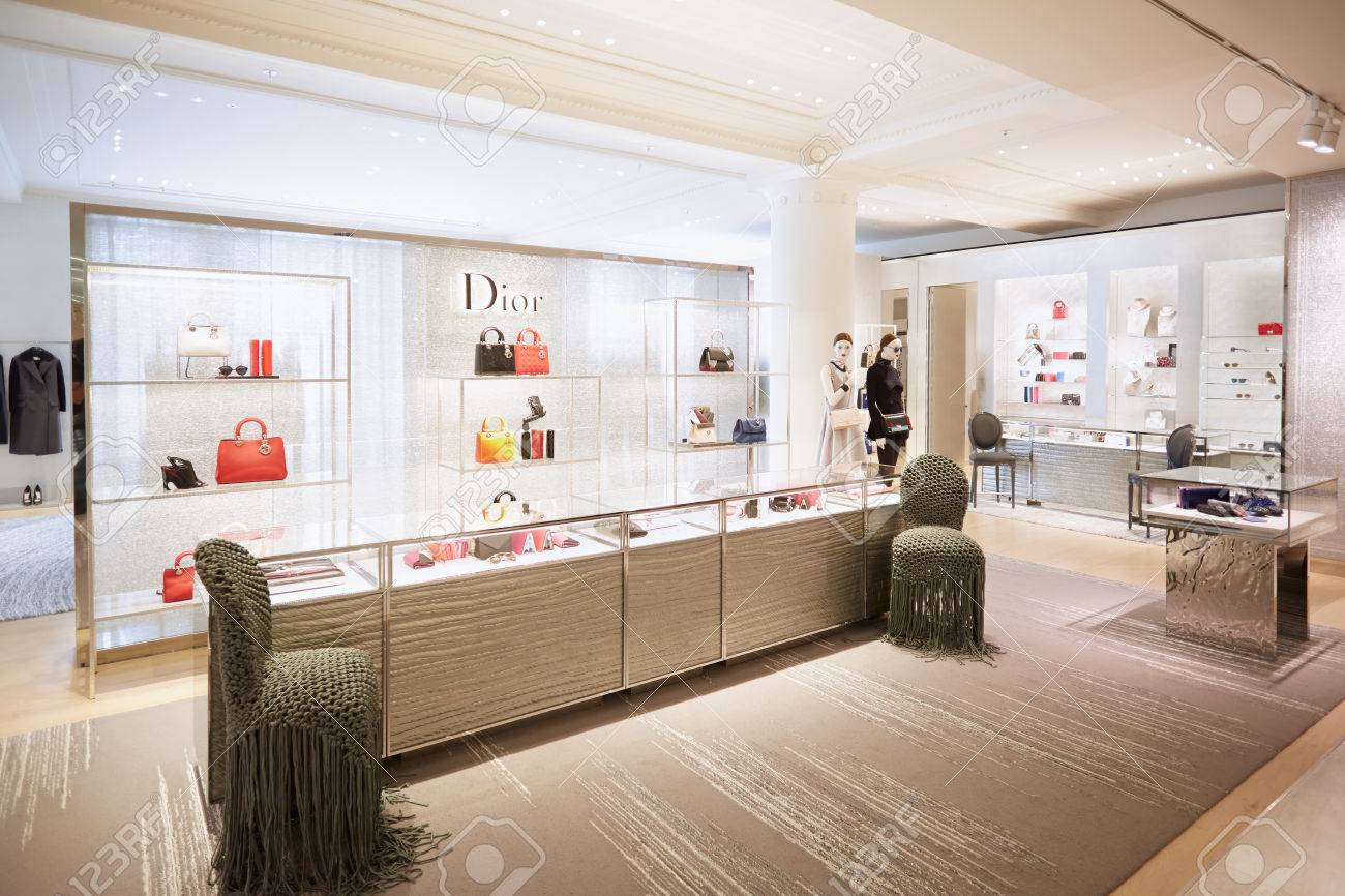 Selfridges Department Store Interior, Christian Dior Shop In.. Stock ...