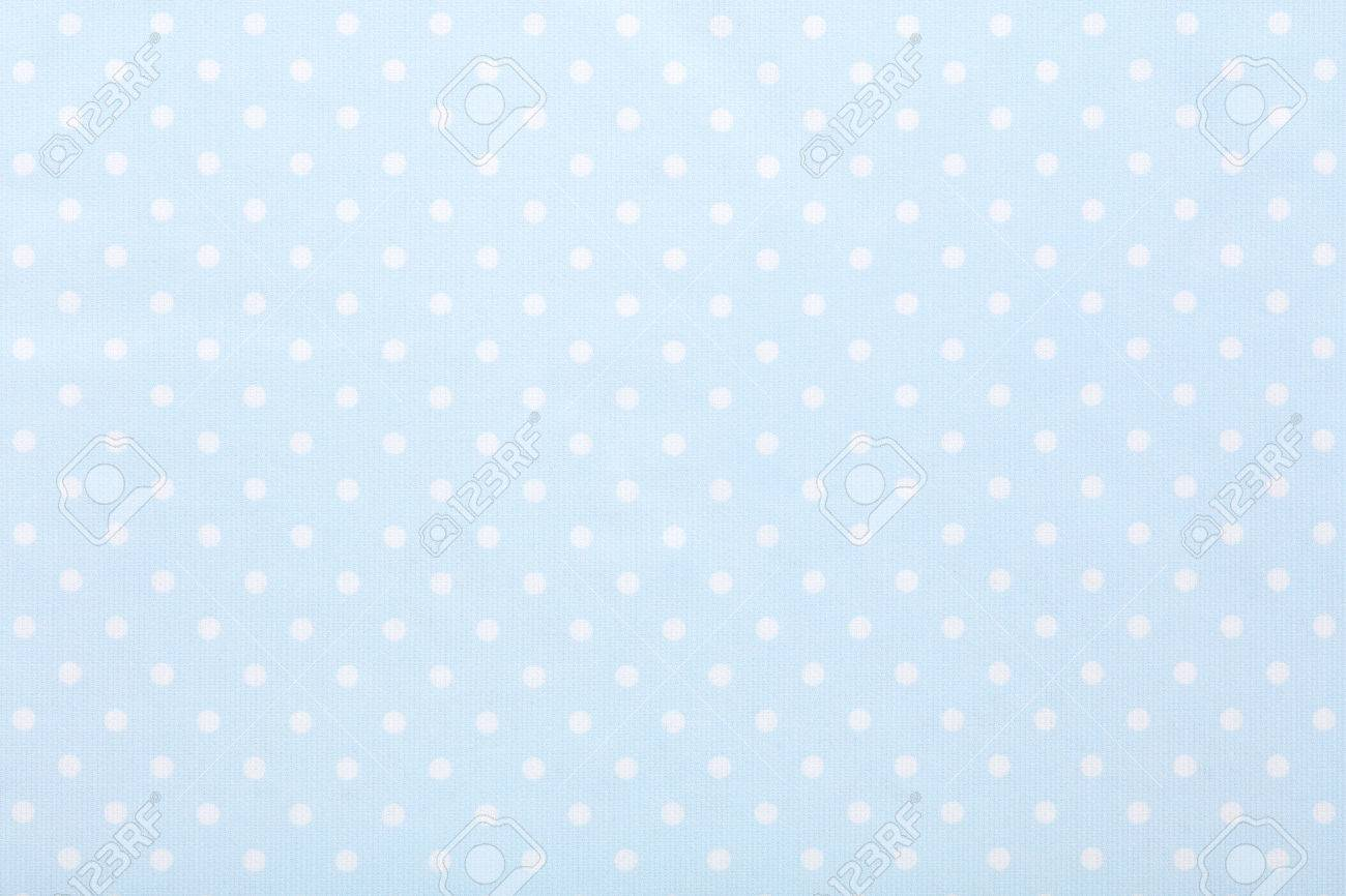 Baby Blue Polka Dot Fabric Texture Background Stock Photo Picture