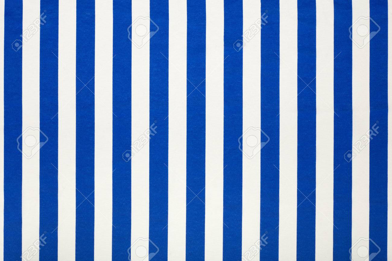 Blue And White Striped Fabric, High Resolution Background Stock Photo    74032857