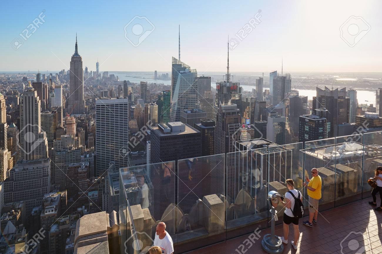 New York September 12 Rockefeller Center Observation Deck Stock