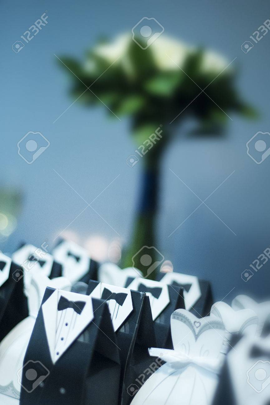 Vertical colour image of wedding favours Stock Photo - 26707606