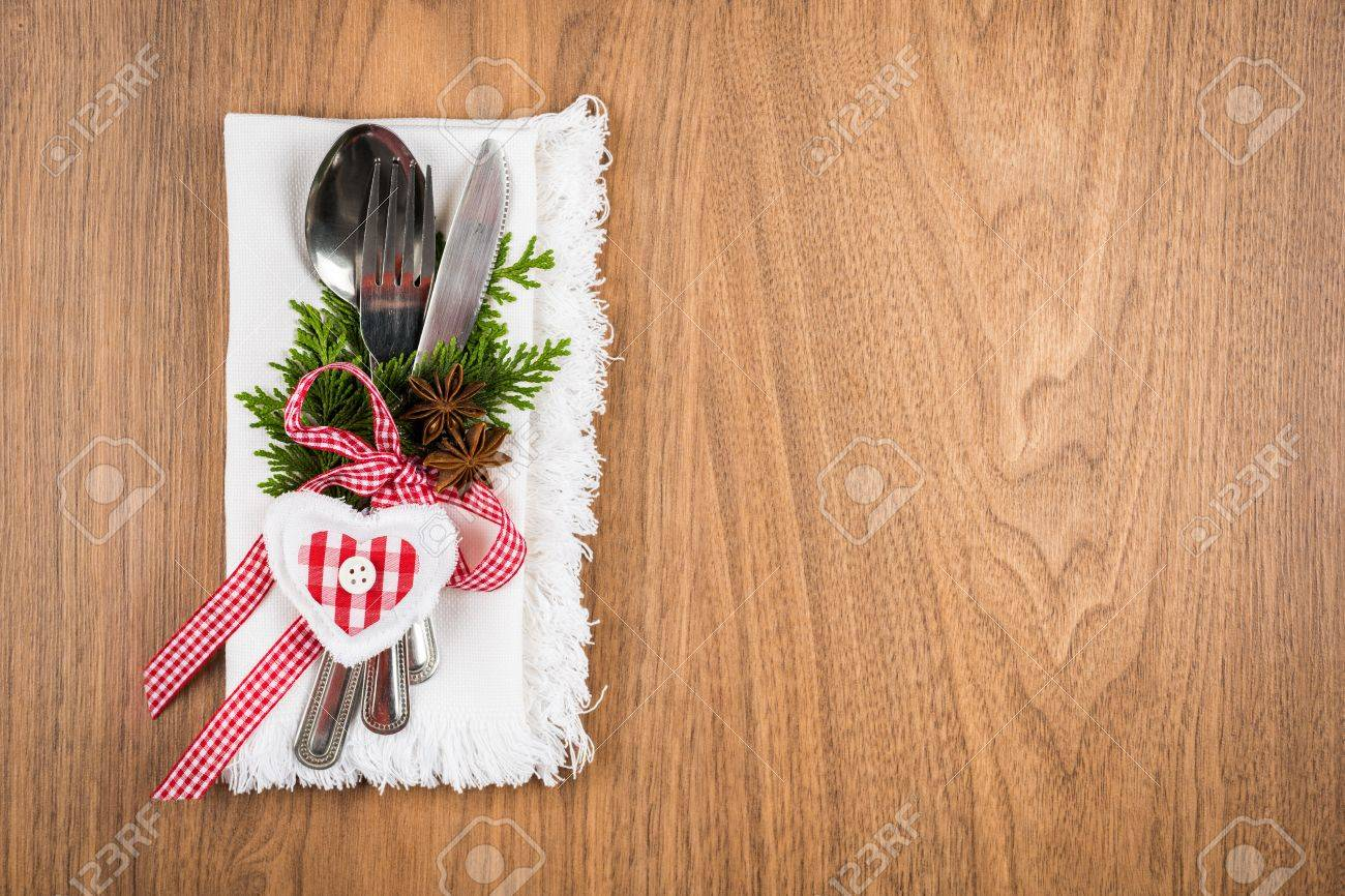 Christmas Table Setting, Christmas Menu Concept In Red, Green ...