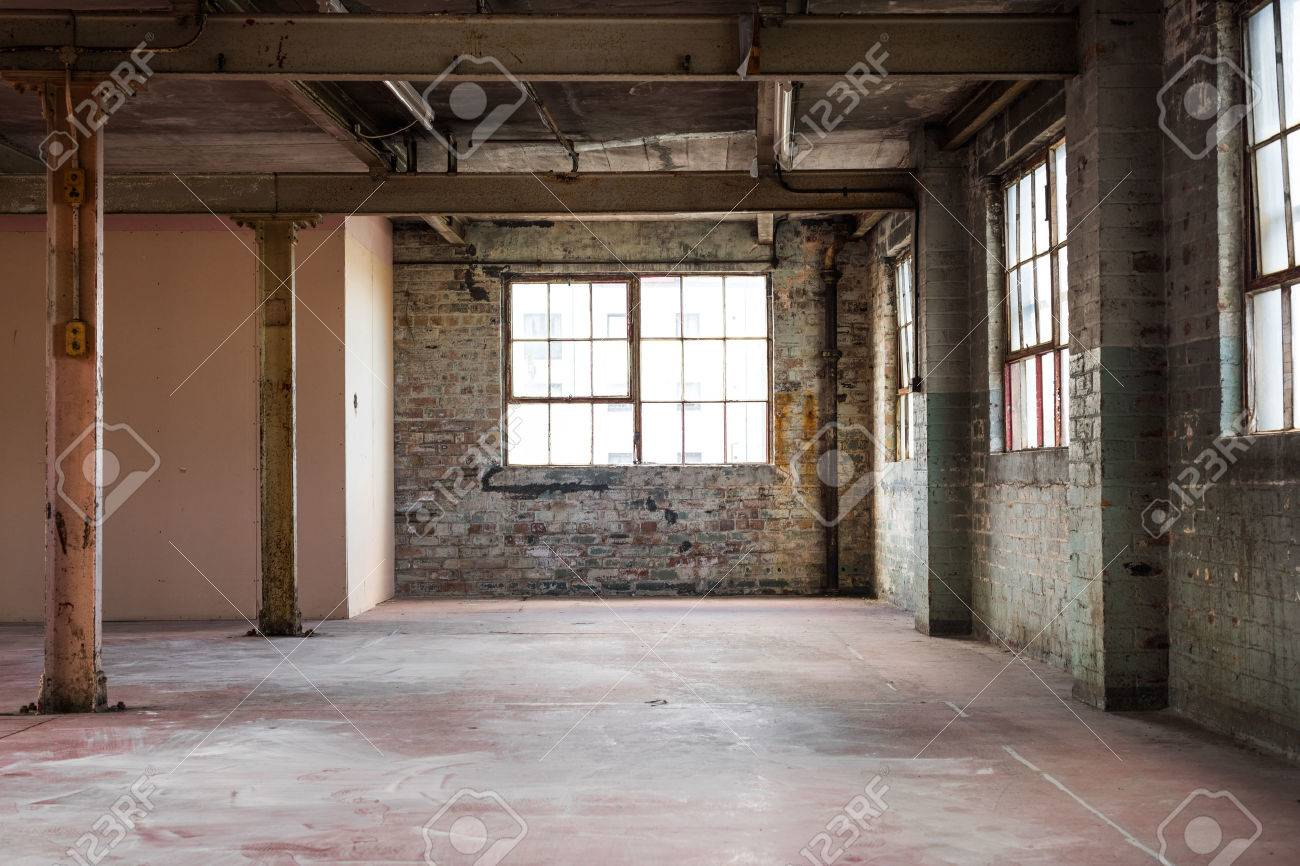 Empty warehouse office or commercial area, industrial background - 40949851