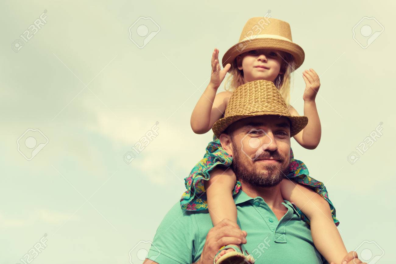 Happy father and daughter having fun together, family time concept - 45487051