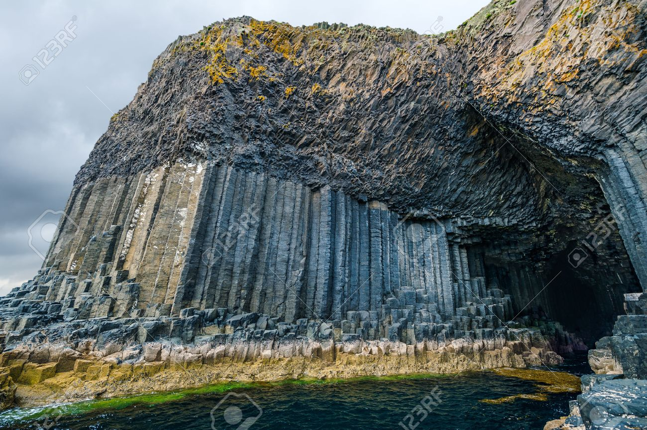 Fingal's Cave, sea cave on the uninhabited island of Staffa, Inner Hebrides of Scotland - 50079797