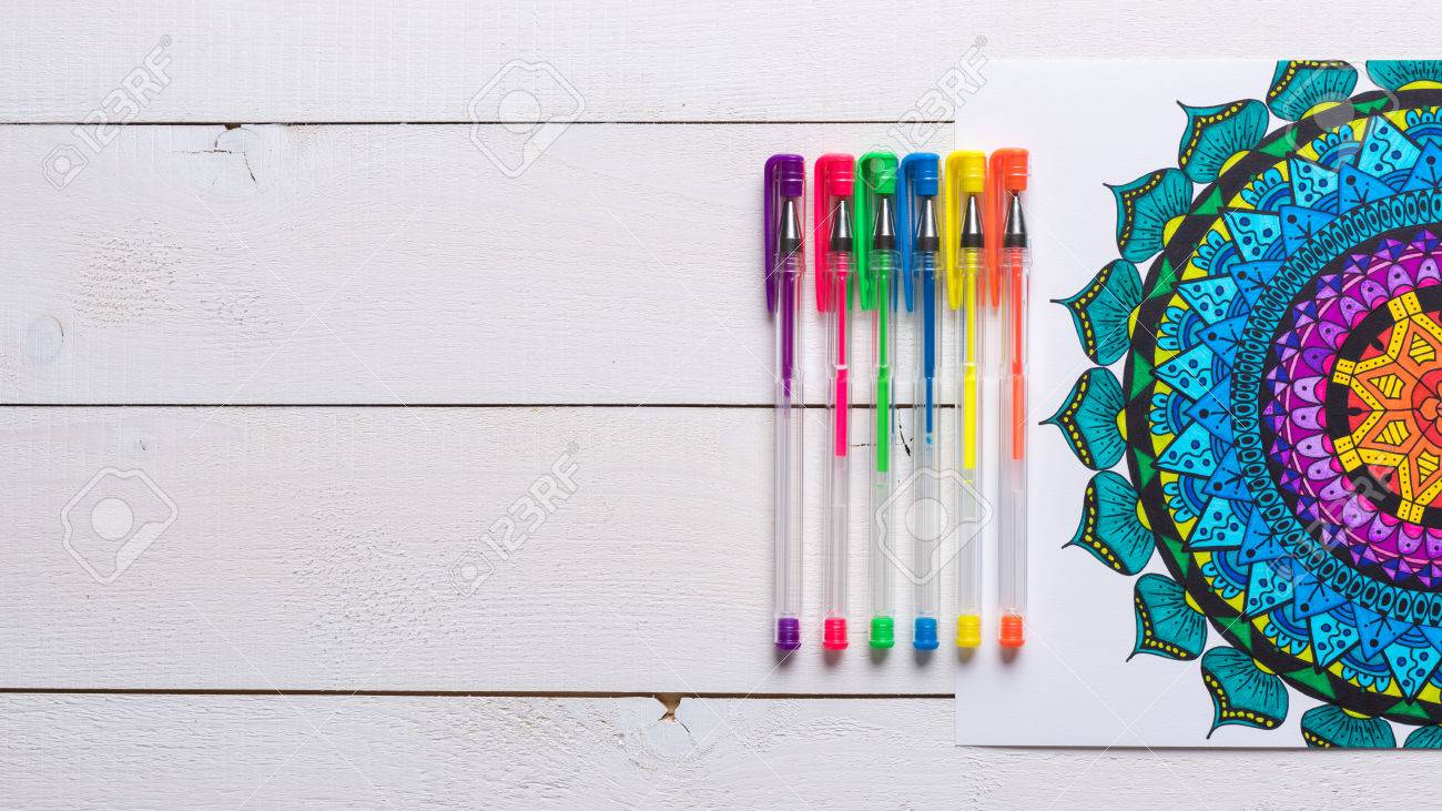 Adult coloring books, new stress relieving trend - 56351798