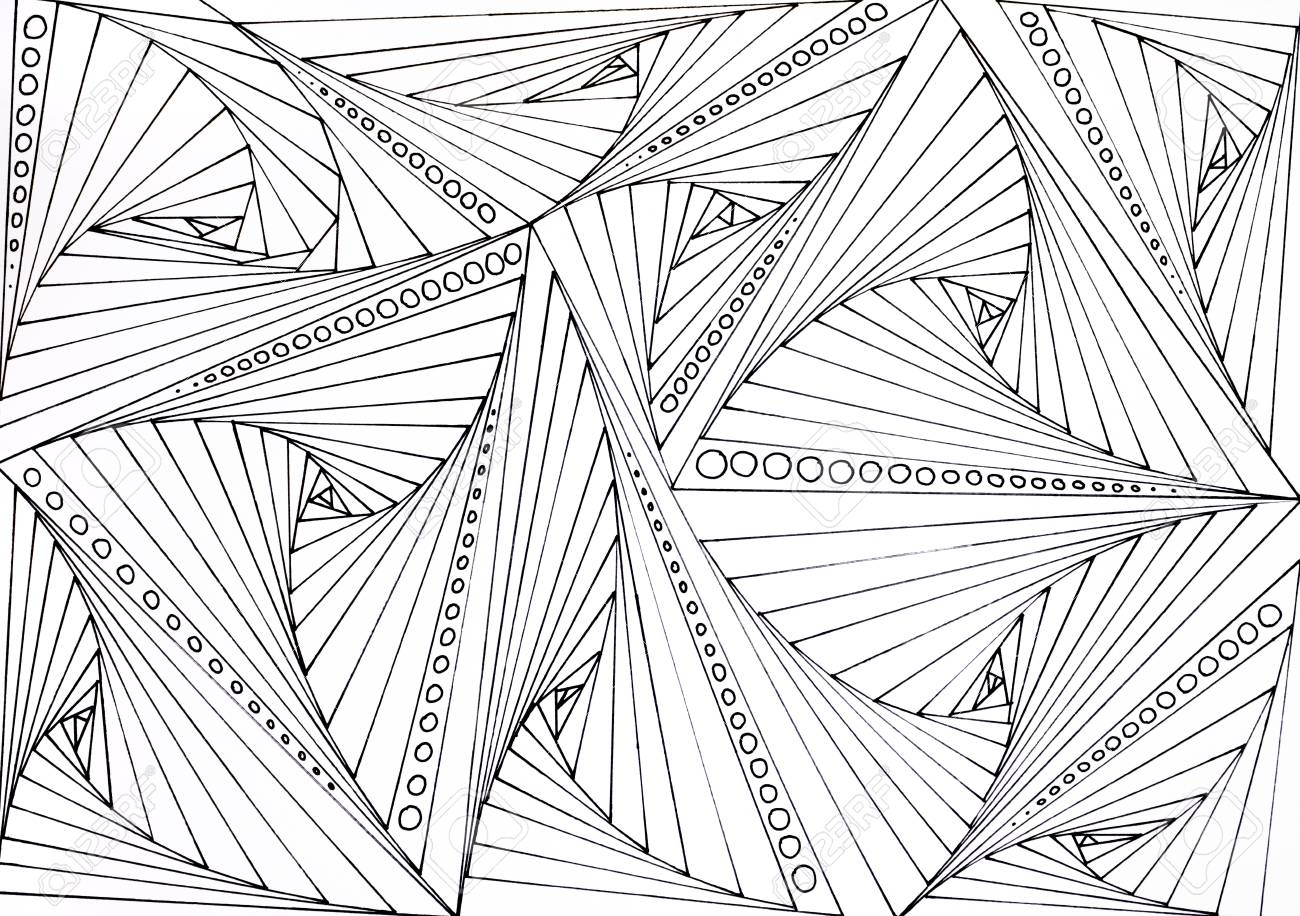 - Adult Coloring Book Hand Drawn Illustration, New Stress Relieving