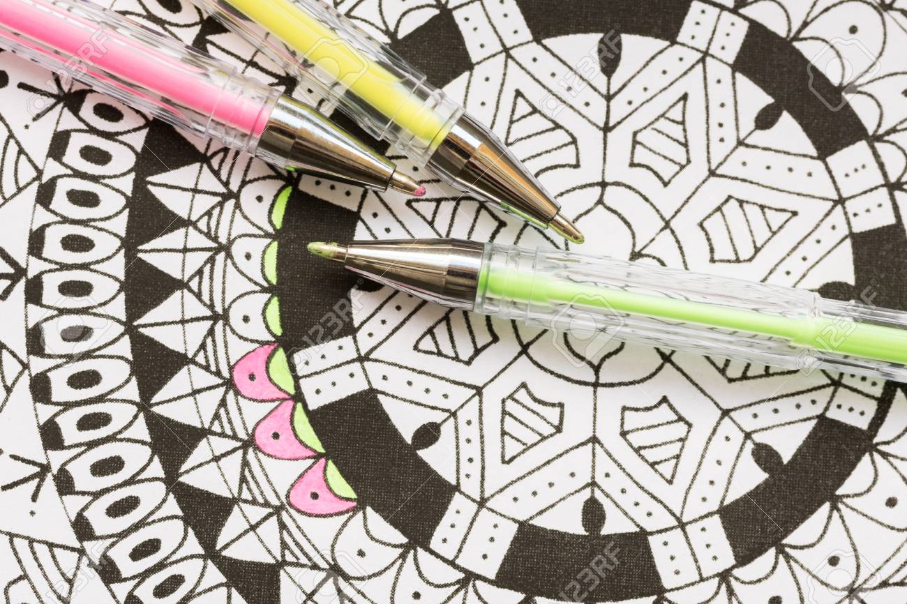 Adult Coloring Book New Stress Relieving Trend Art Therapy