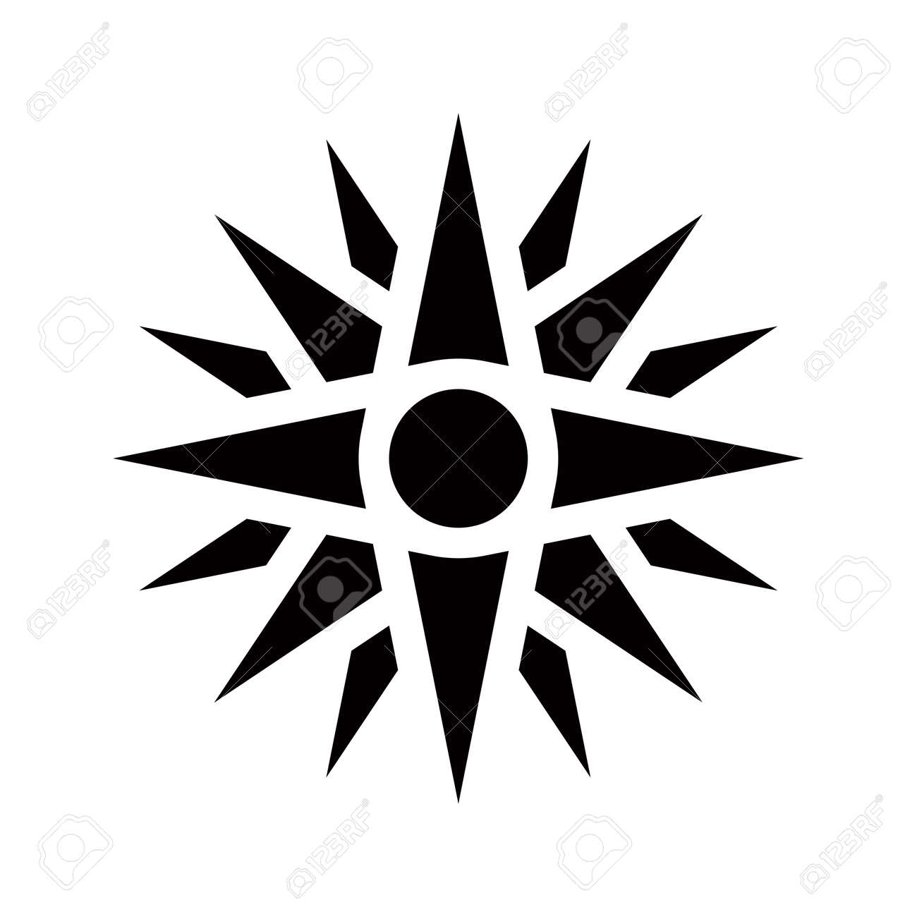 Graphical representation of an ancient greek symbol vergina graphical representation of an ancient greek symbol vergina star stock photo 16034619 biocorpaavc