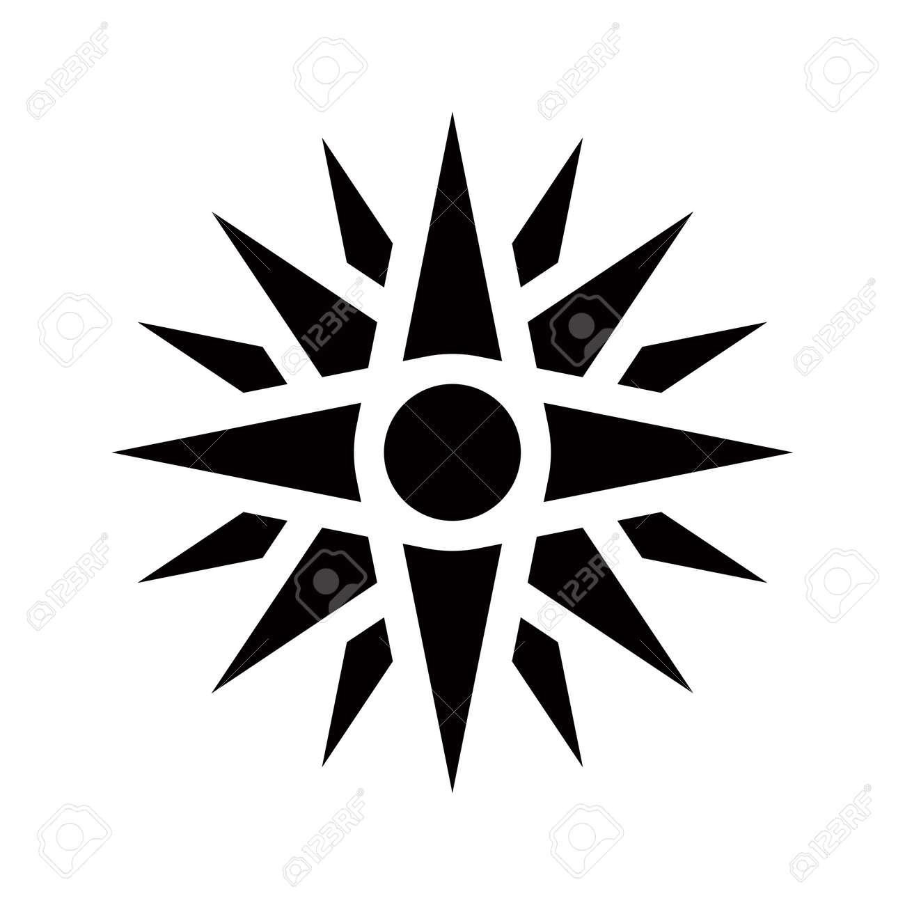 Graphical Representation Of An Ancient Greek Symbol Vergina Stock