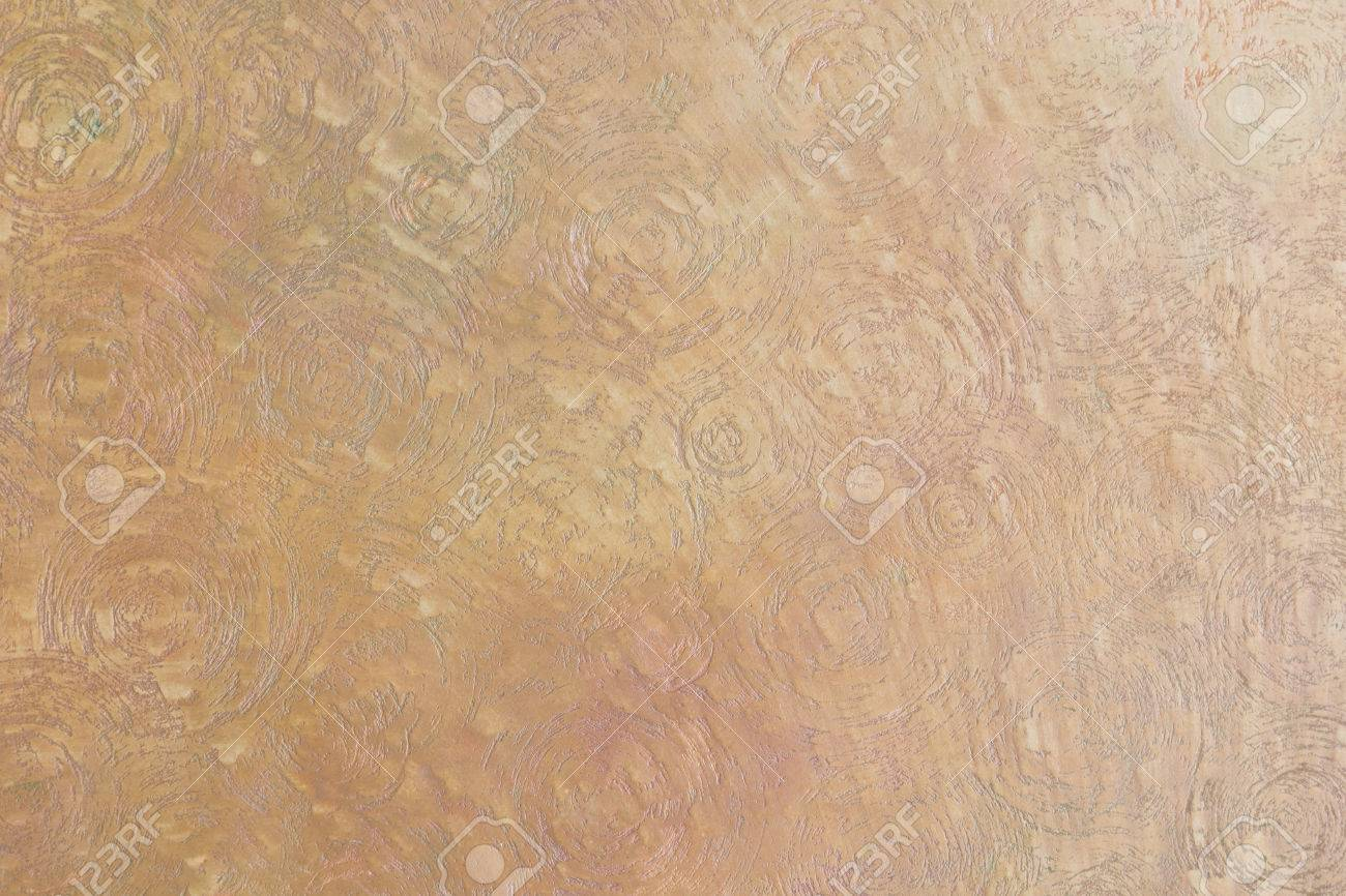 Texture Of Ocher And Gold Spotted Uneven Circles Decorative Plaster ...