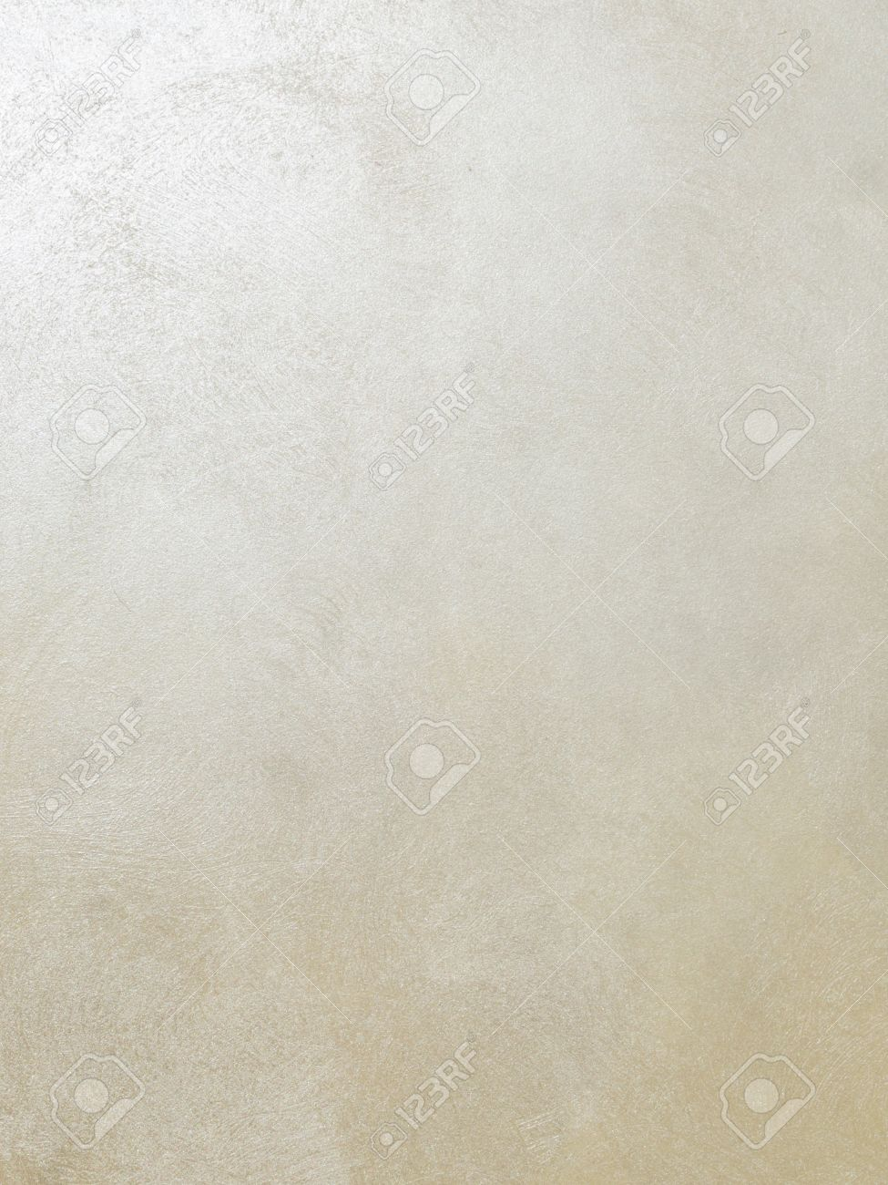 Decorative Light Beige Silk Silver Paint With A Shiny Textured Surface On  The Wall Stock Photo