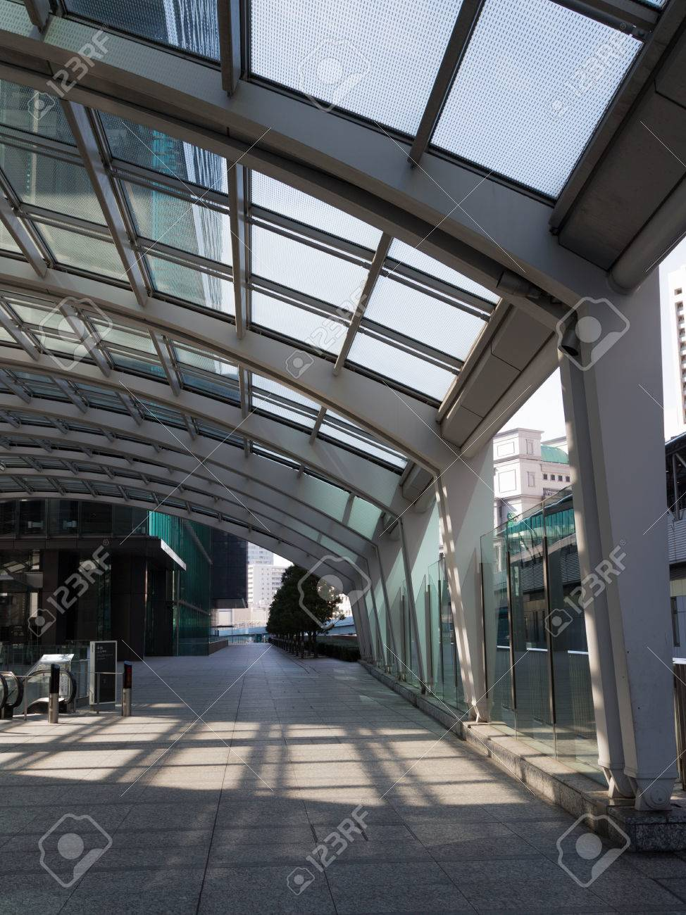 tokyo 4 february 2015 entrance to the subway and a large glass canopy with - Large Canopy 2015
