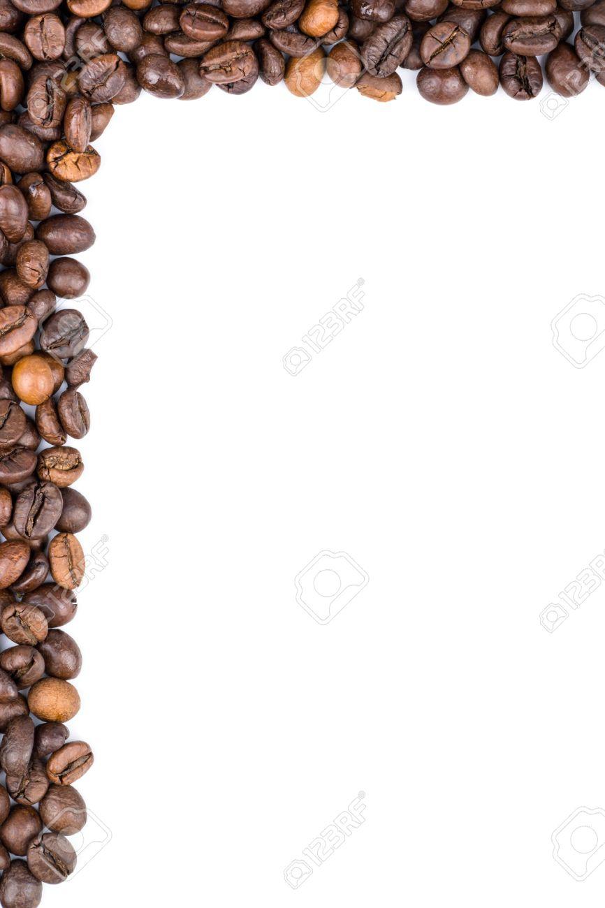 Los Granos De Café Se Colocan Alrededor De Los Bordes Como Marco ...