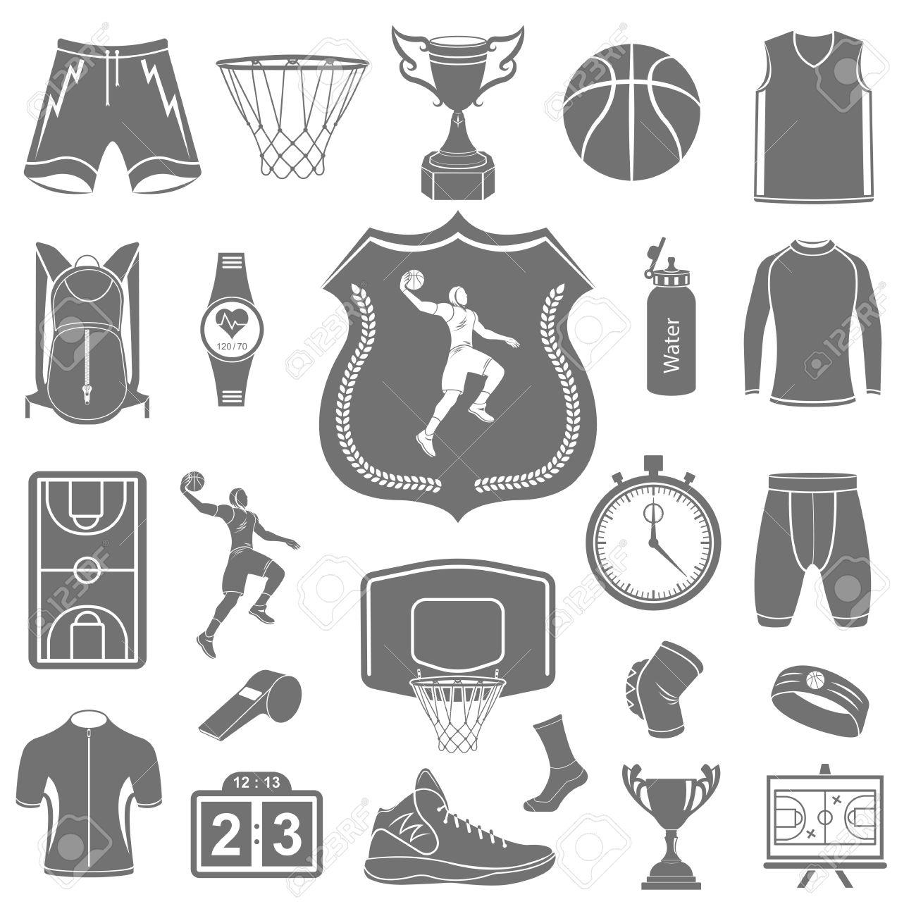 Basketball icon set stock vector large set of symbols and basketball icon set stock vector large set of symbols and icons of basketball buycottarizona