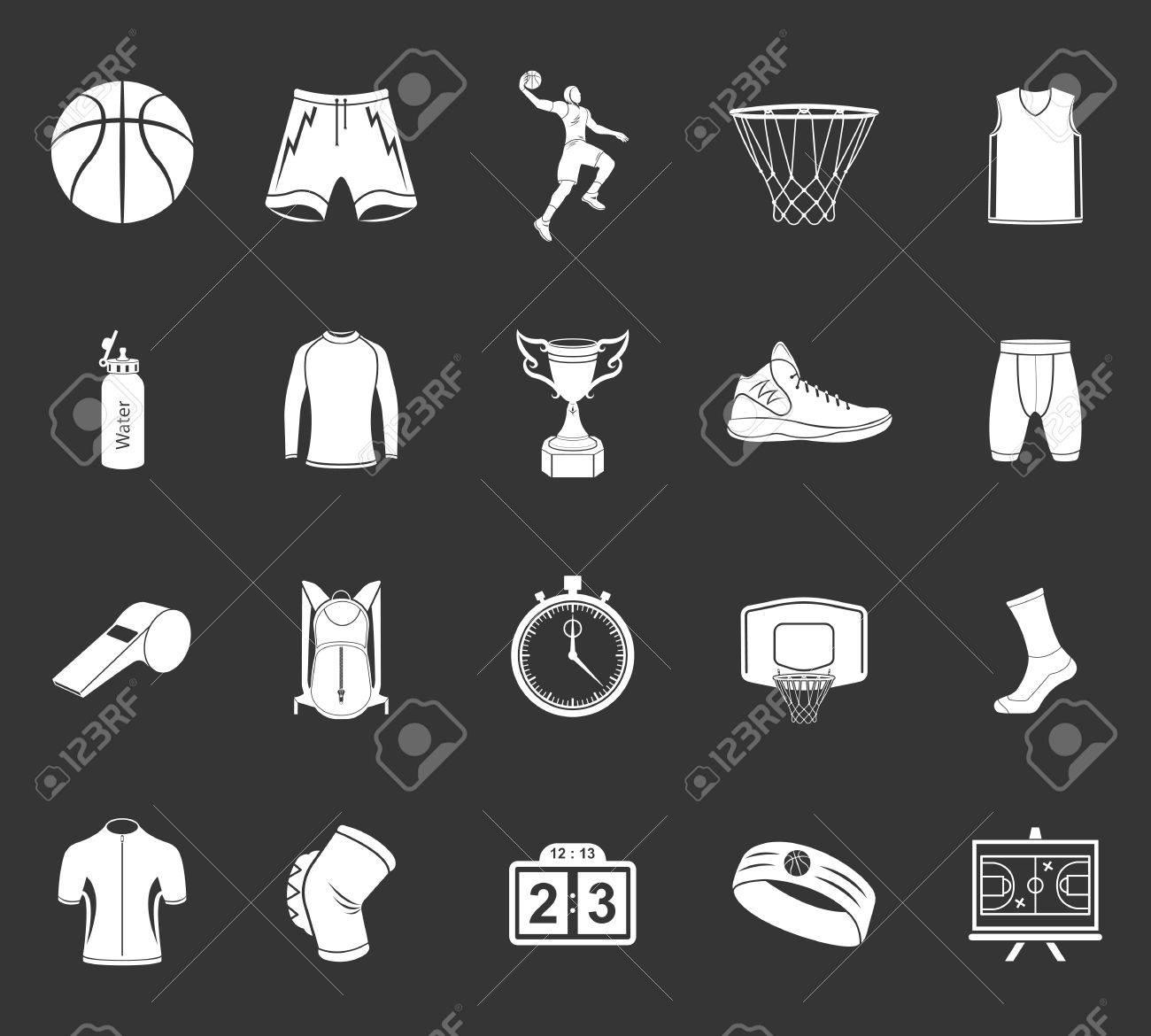 Basketball icon set stock vector large set of symbols logos basketball icon set stock vector large set of symbols logos and icons of buycottarizona