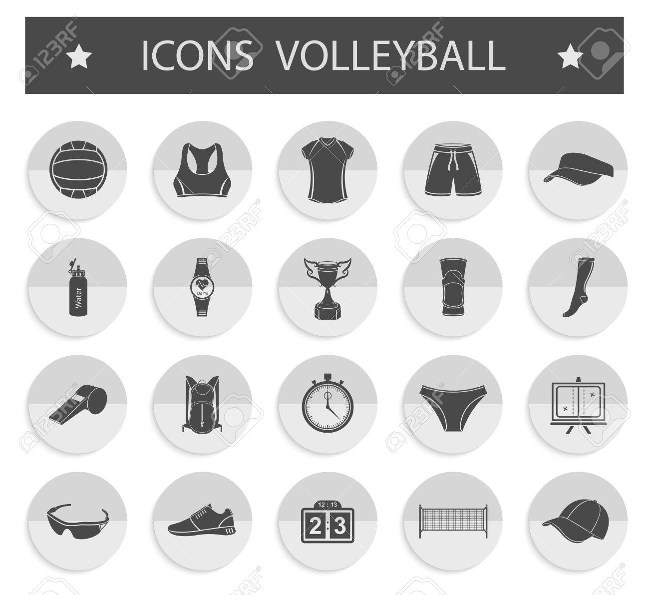 Volleyball icon set stock vector large set of symbols logos volleyball icon set stock vector large set of symbols logos and icons of buycottarizona