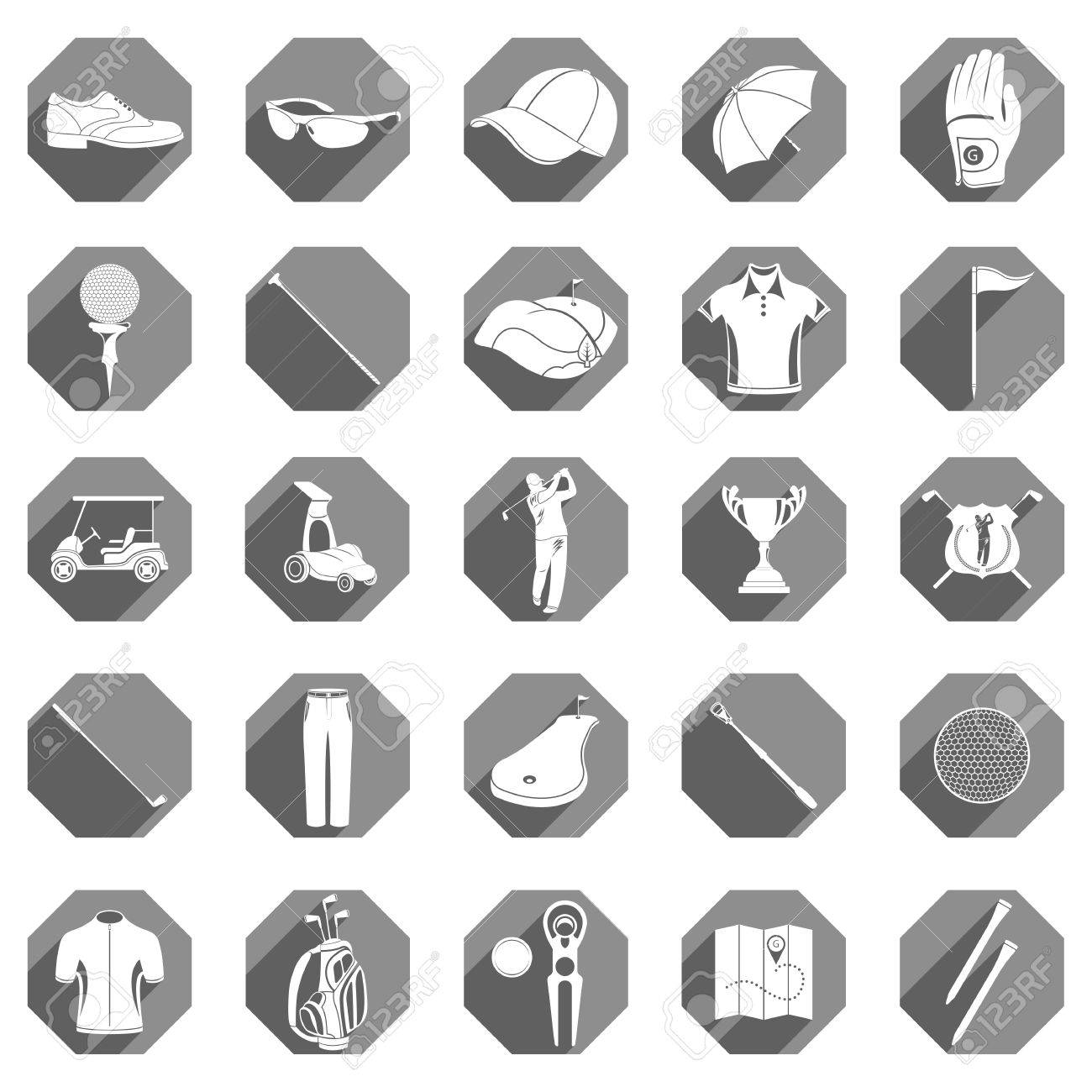 Golf game sport and activity icons set isolated vector golf game sport and activity icons set isolated vector illustration symbols and accessories biocorpaavc Images