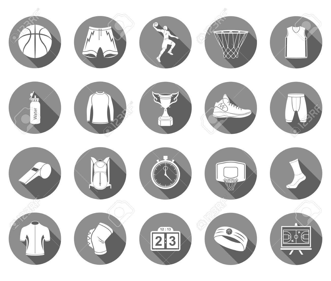 Basketball icon set stock vector large set of symbols icons basketball icon set stock vector large set of symbols icons of basketball buycottarizona