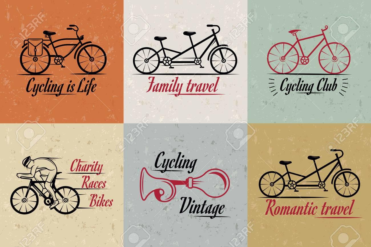Set of vintage modern and retro logo badges and labels bicycle set of vintage modern and retro logo badges and labels bicycle pro bike biocorpaavc Images