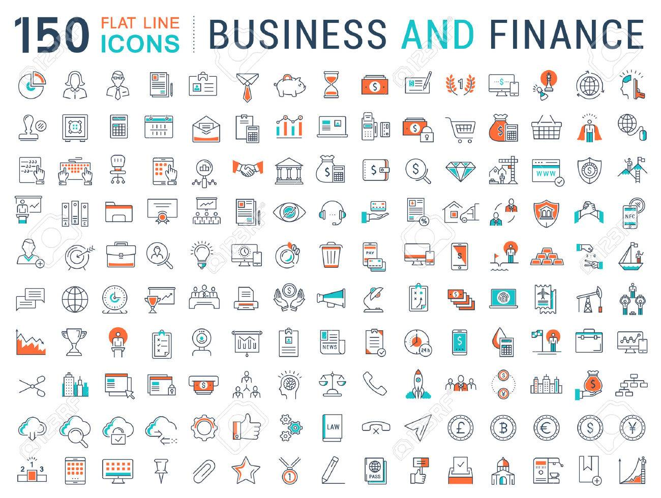 Set vector line icons in flat design with elements for mobile concepts and web apps. Collection modern infographic pictogram. - 59073418