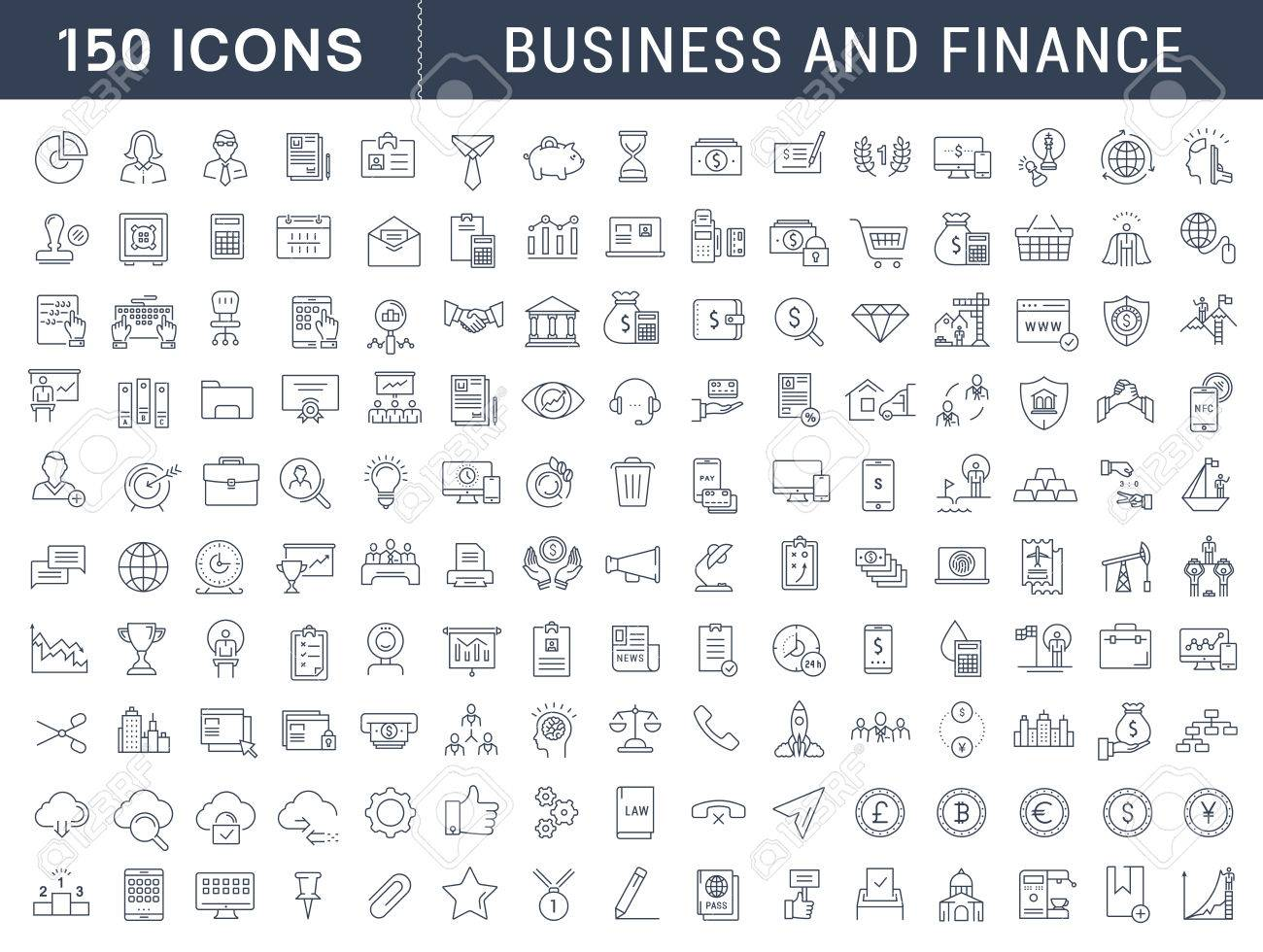 Set vector line icons in flat design with elements for mobile concepts and web apps. Collection modern infographic logo and pictogram. - 59863805