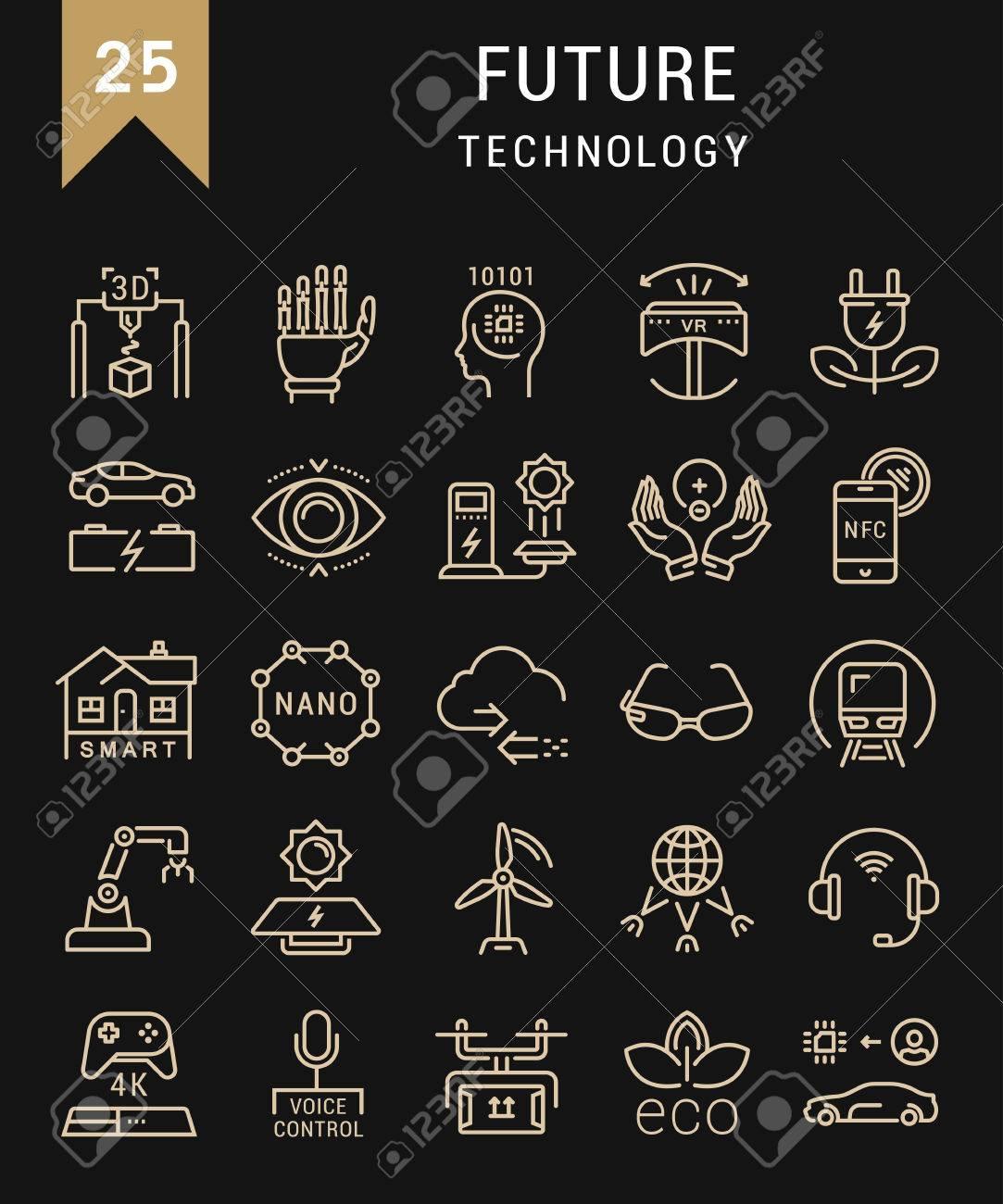 Stellen Sie Vektor Linie Symbole In Flache Design ...