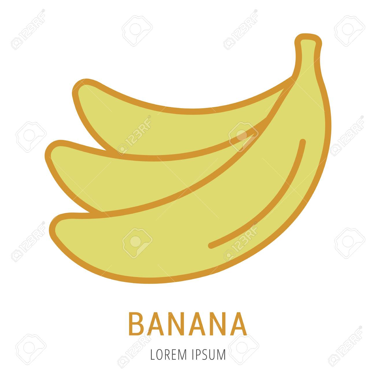 logo or label banana line style logotype easy to use banana