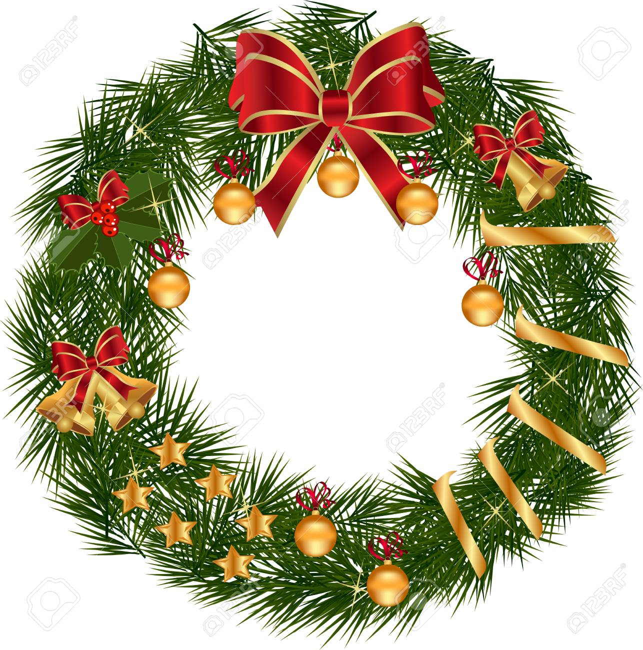 Image result for wreath white background