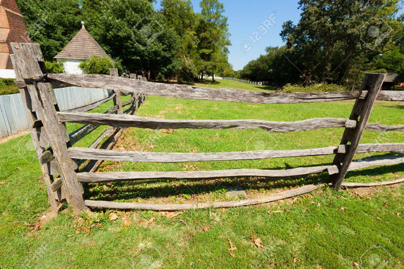 wood farm fence. Stock Photo - View Of The Ancient Wooden Fence On Farm. Wood Farm