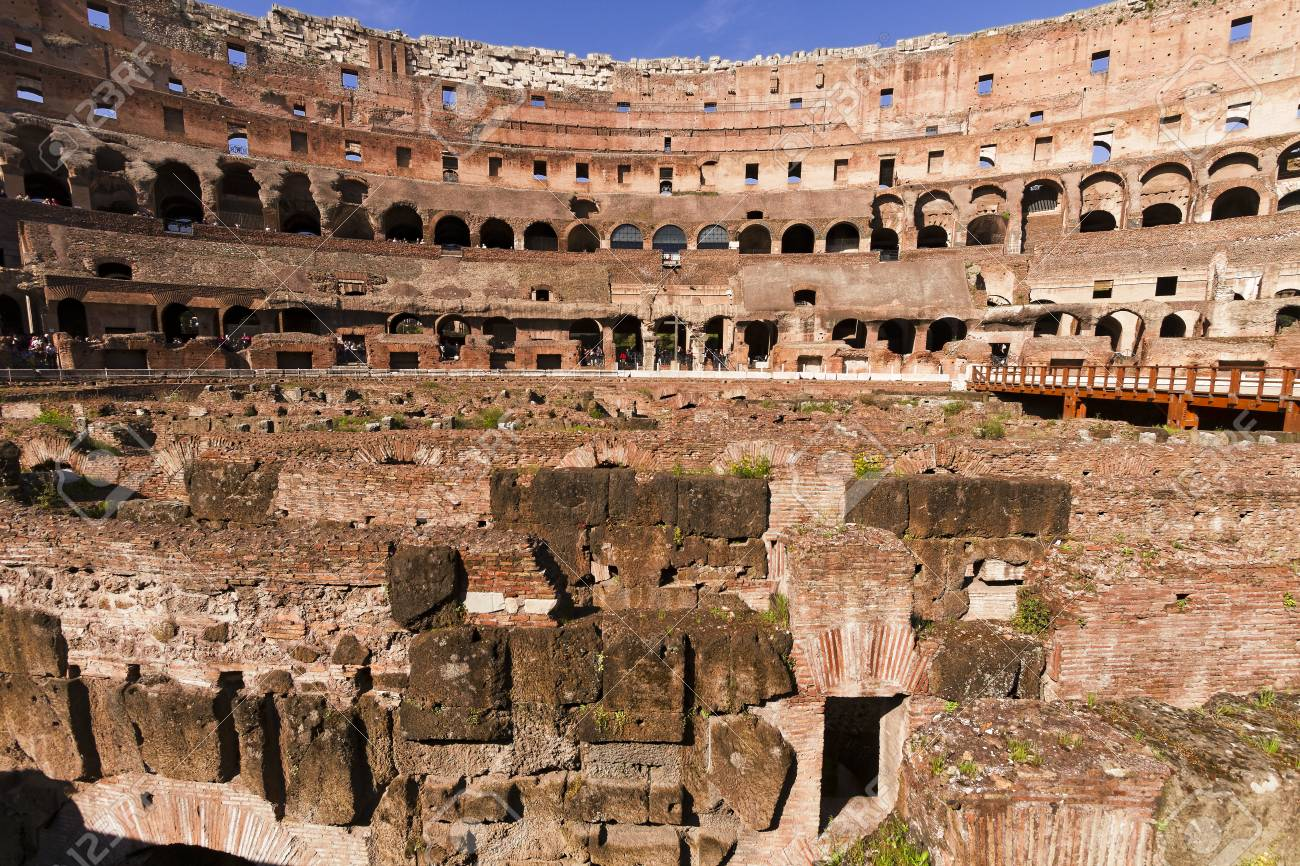 Roma Italia 7 De Abril De 2013 Antiguo Coliseo Romano Ve