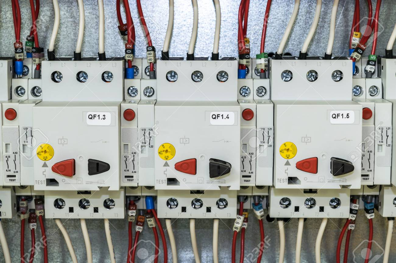 On The Mounting Panel Of The Electrical Cabinet Is Located A.. Stock ...