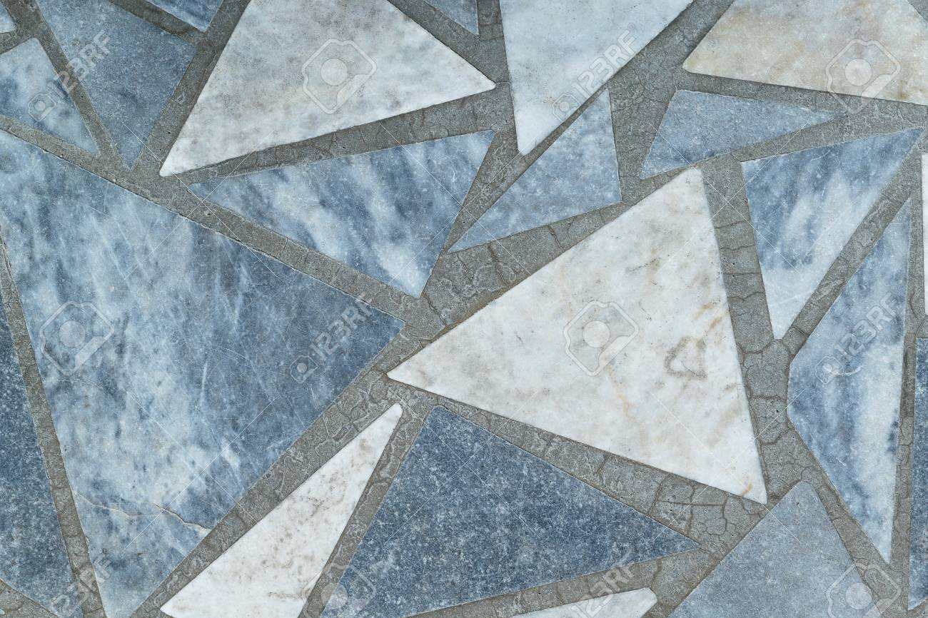 Floor Or Surface Lined With Marble Slabs Of Triangular Form... Stock ...