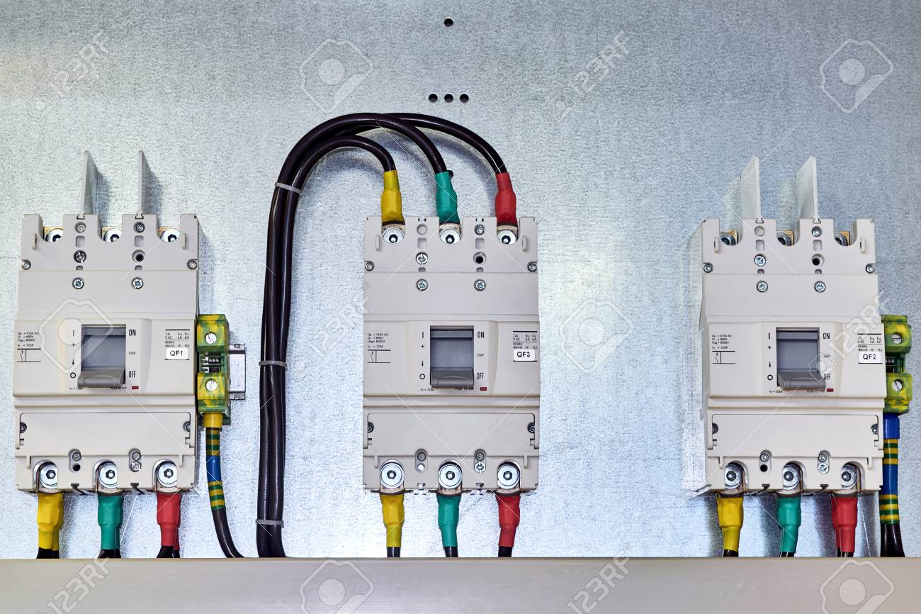There Are Three Power Circuit Breakers On The Mounting Panel ...