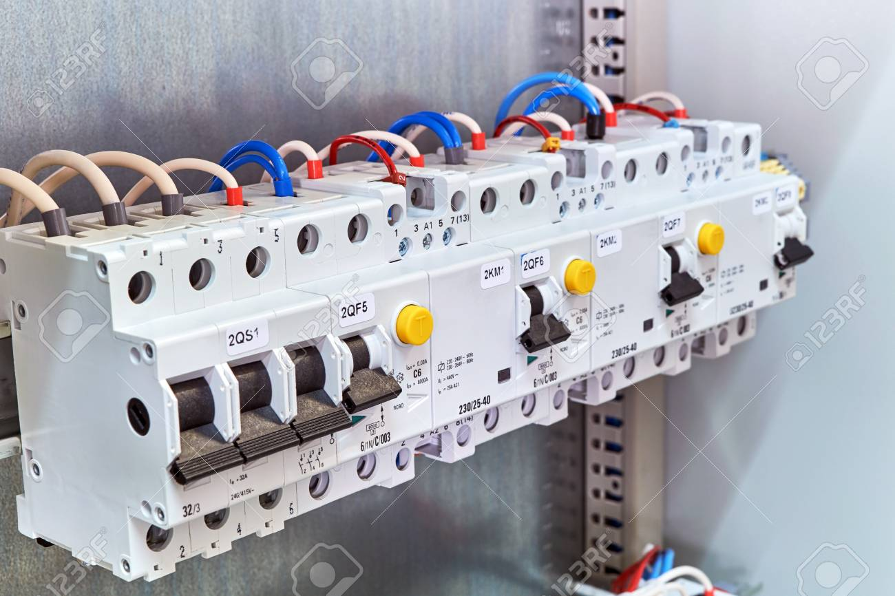 A range of different modular electrical devices in an electrical a range of different modular electrical devices in an electrical cabinet circuit breaker protection asfbconference2016 Choice Image