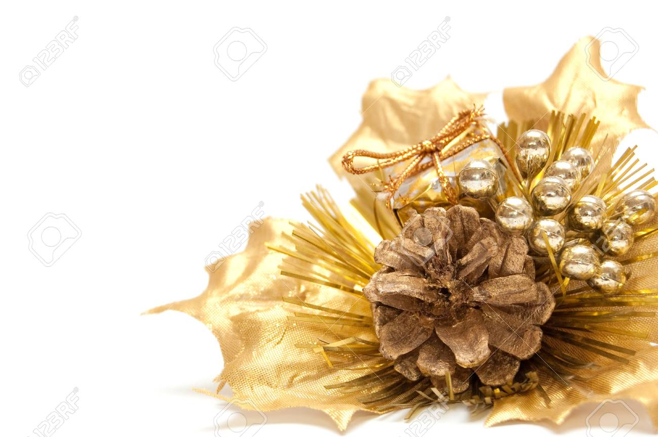 christmas bouquet isolated on white Stock Photo - 8023508