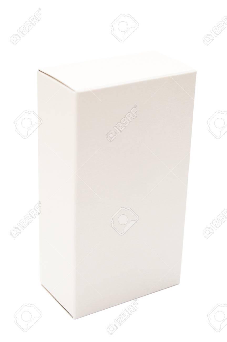 white cardboard box isolated on white background Stock Photo - 8370575