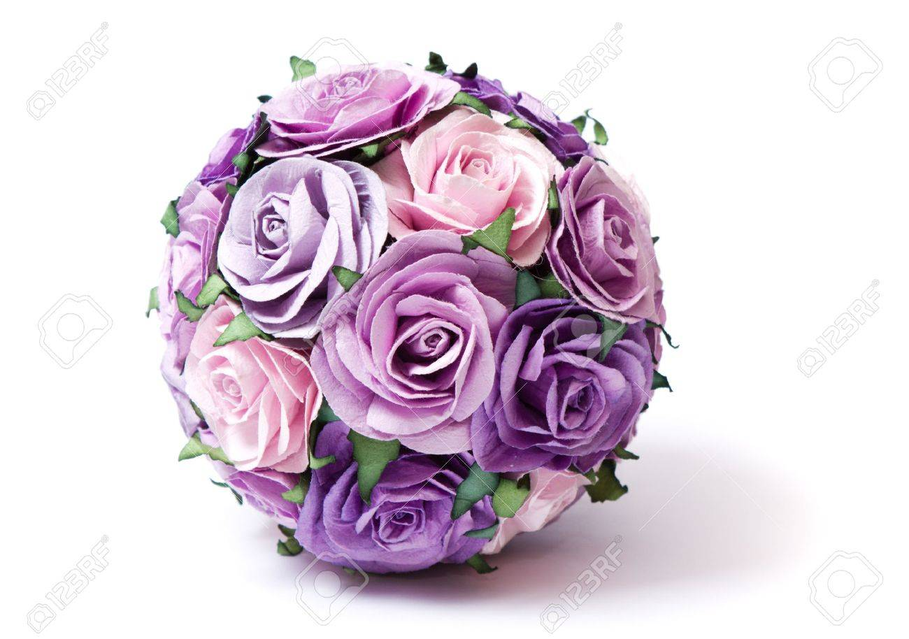 bouquet of pink and violet roses Stock Photo - 8604807