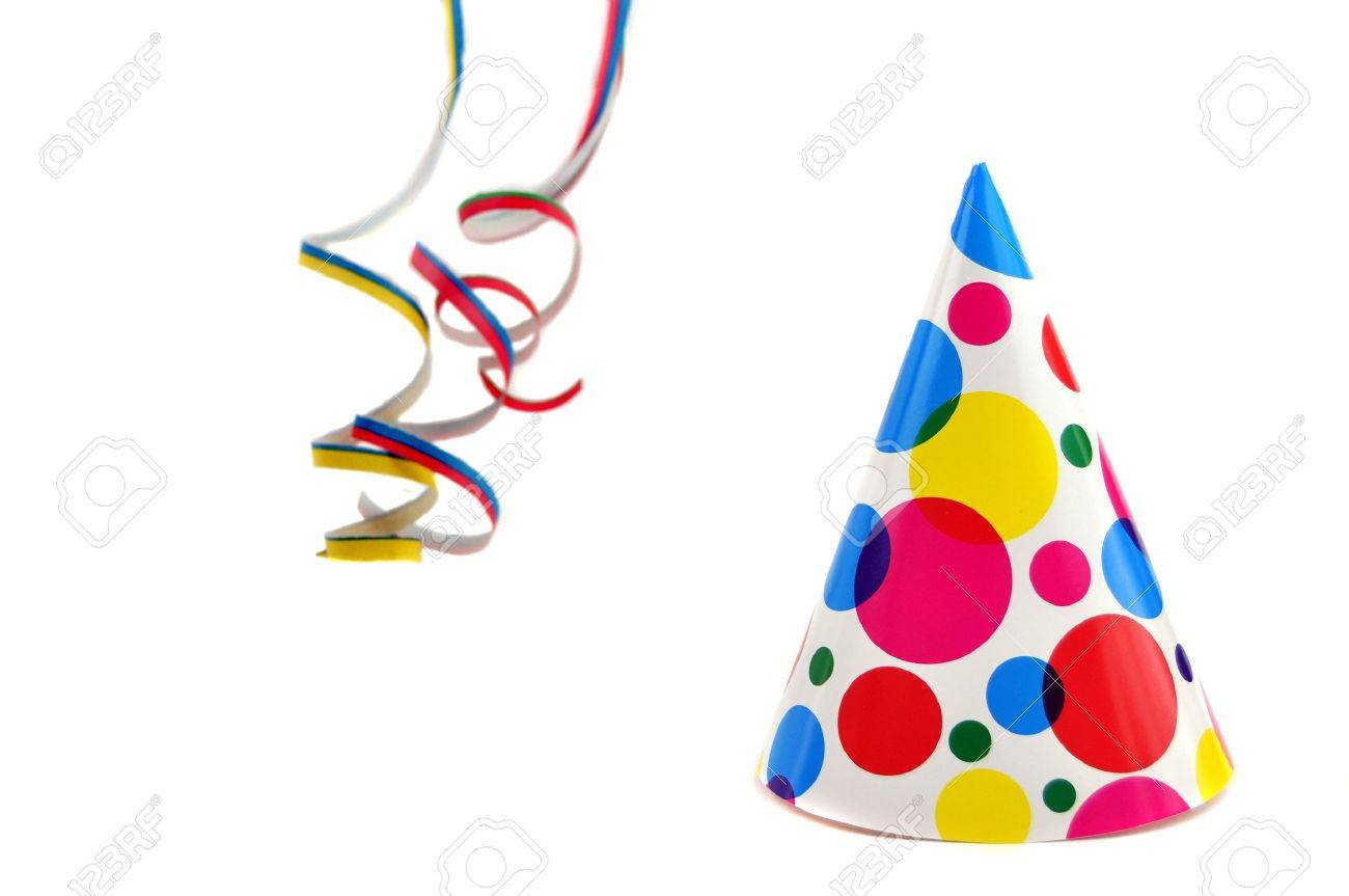 Colorful Party Hat Party Hat And Colorful Curly