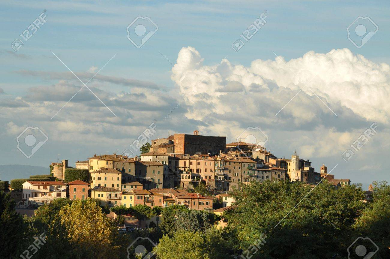 Chianciano Terme at sunset. Tuscany, Italy Stock Photo - 7963404