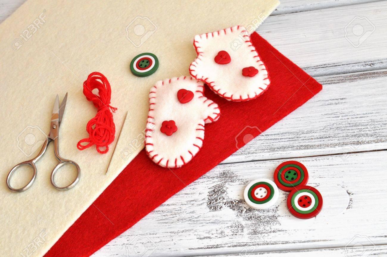 Ordinary Craft Supplies Christmas Part - 3: Christmas Craft Supplies And Handmade Ornaments Stock Photo - 16250769