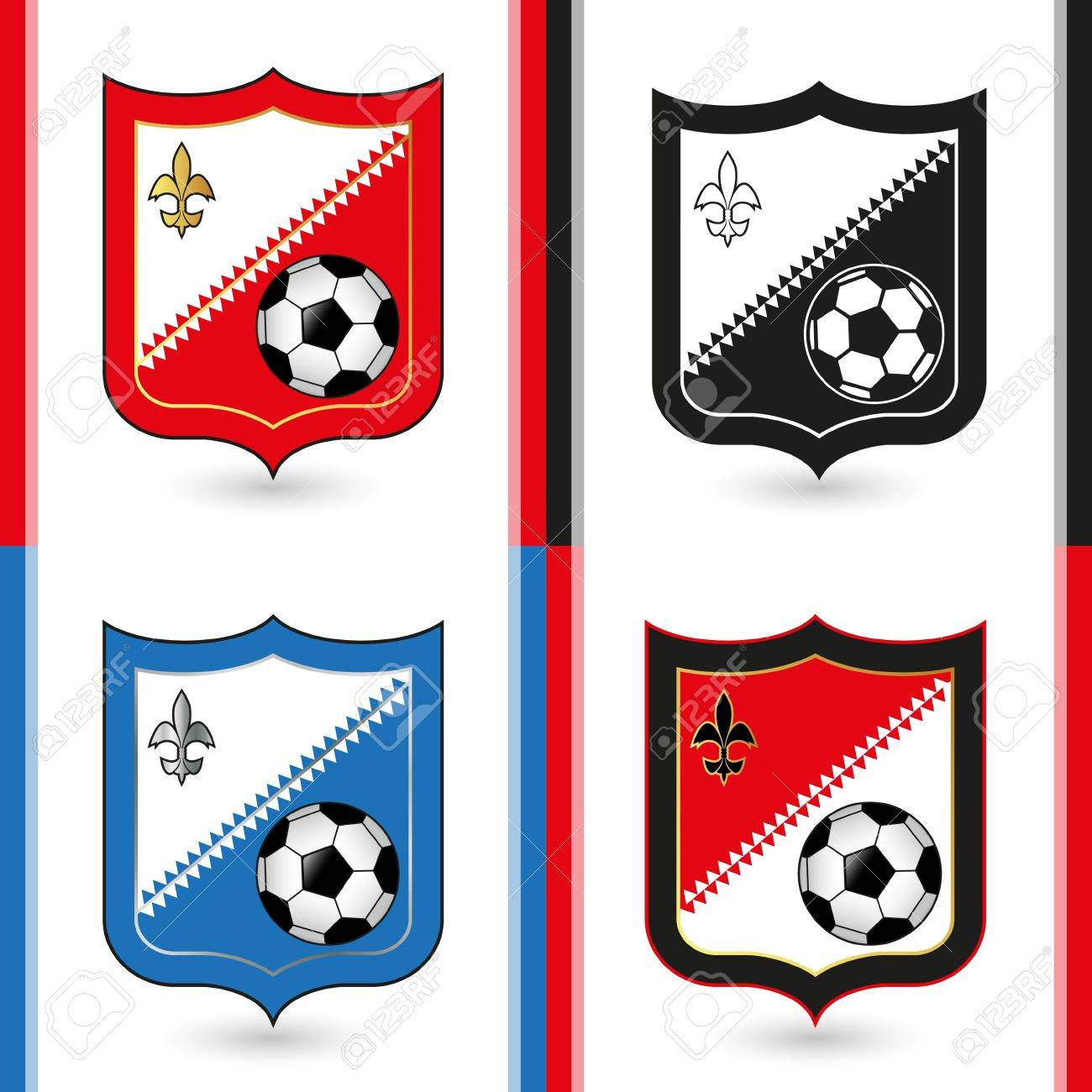 Soccer Emblems Stock Vector - 18473805